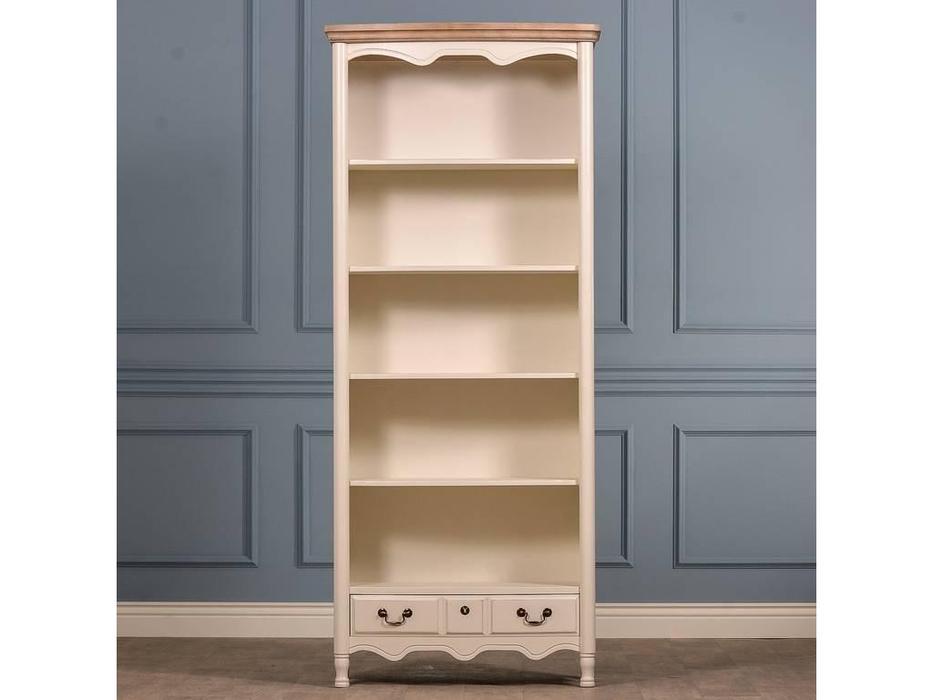CUF Limited: Siena: шкаф книжный  открытый (белый корпус M01, бежевый топ M02A)