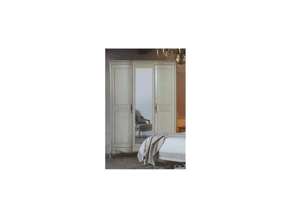 CUF Limited: Provence: шкаф 3 дверный  (белый состаренный)