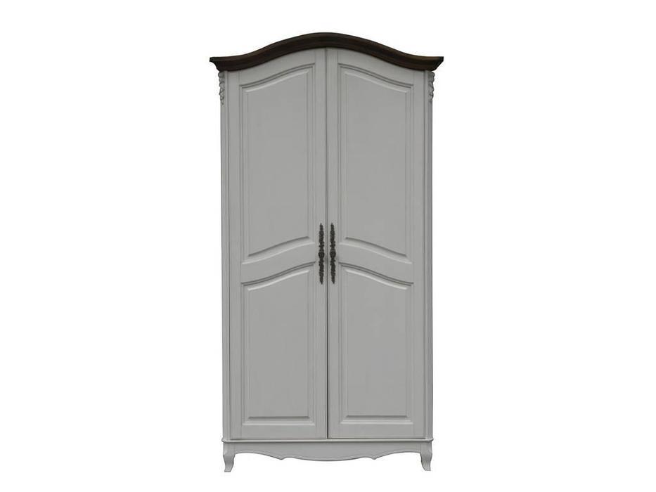 CUF Limited: San Teodoro: шкаф 2 дверный  (D71+M01, топ орех, белый корпус)