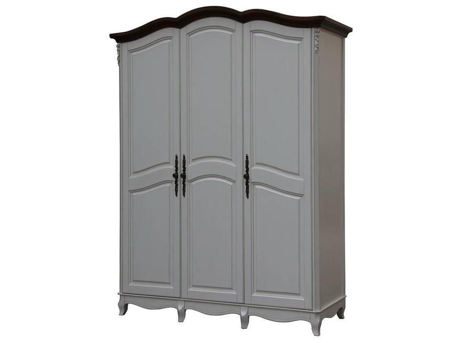 CUF Limited: San Teodoro: шкаф 3 дверный  (D71+M01, топ орех, белый корпус)