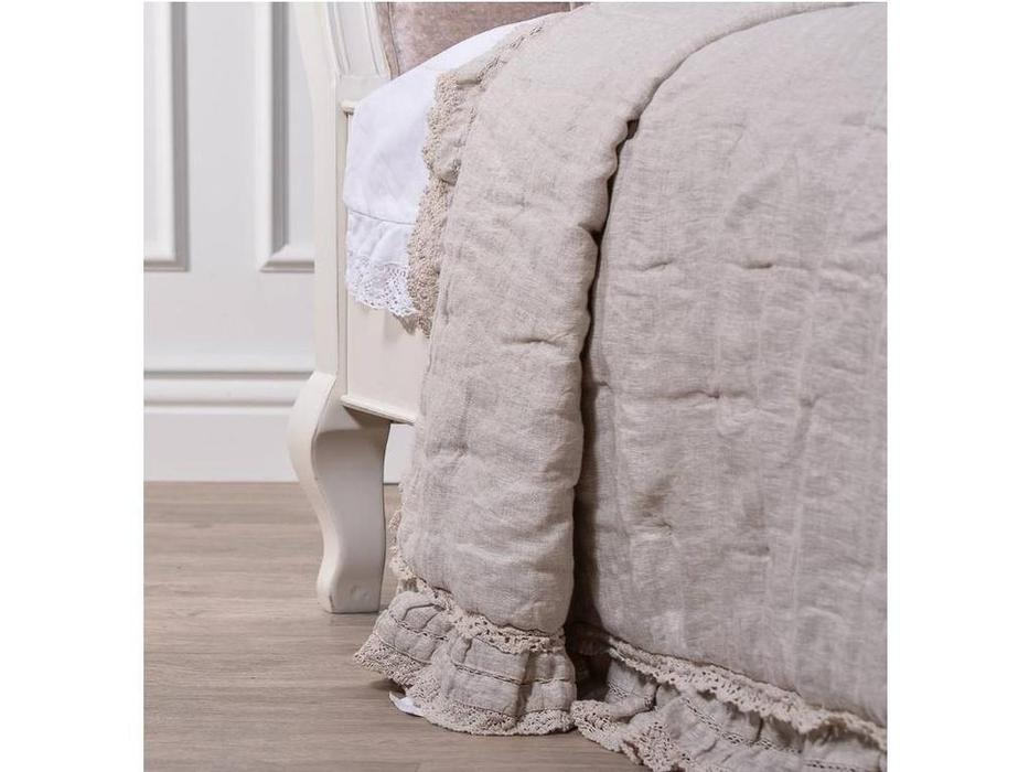 CUF Limited: Siena: кровать 160х200  (M01 белый, обивка #B88)