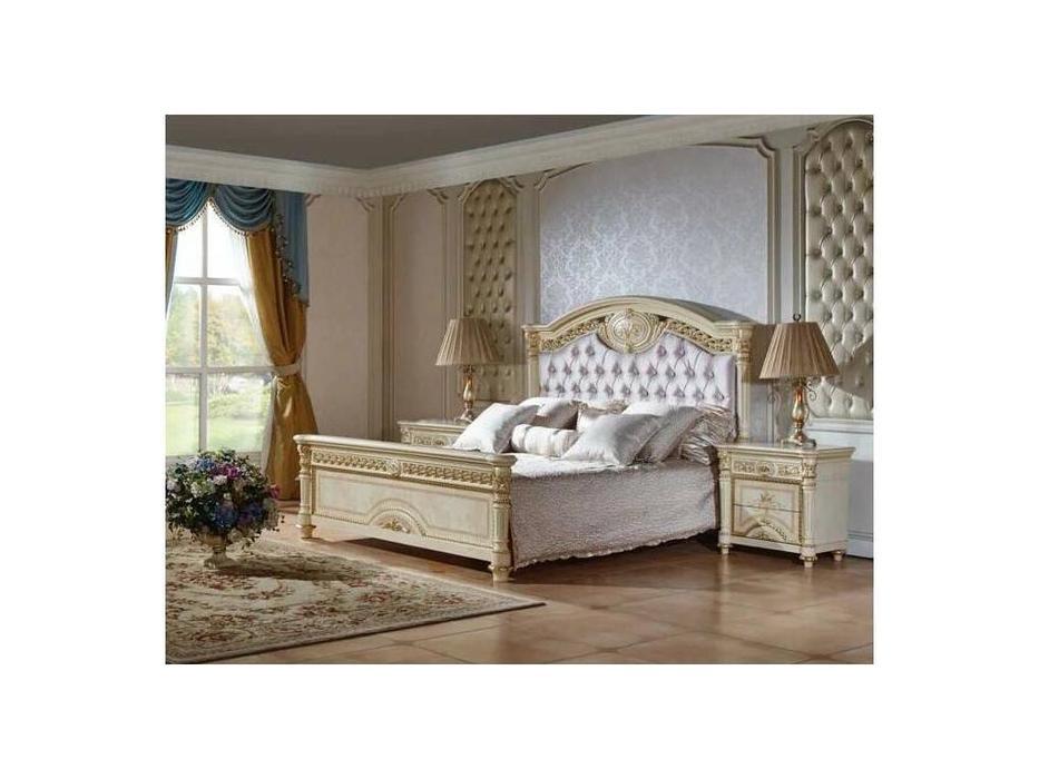 FurnitureCo: Атанасия: кровать 180х200  с мягким изголовьем (беж)