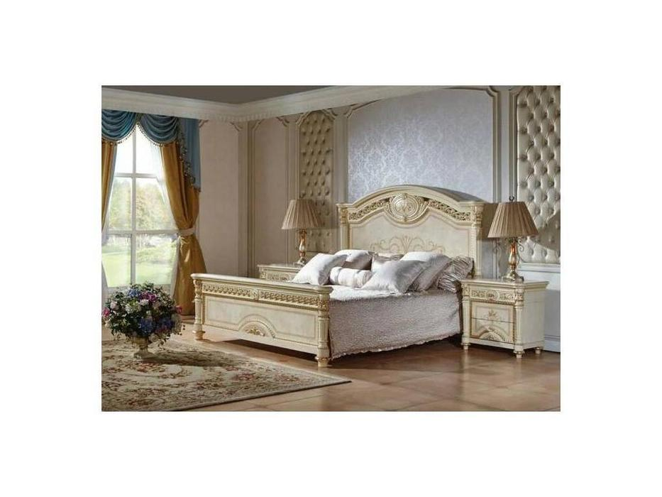 FurnitureCo: Атанасия: кровать двуспальная  180х200 (беж)