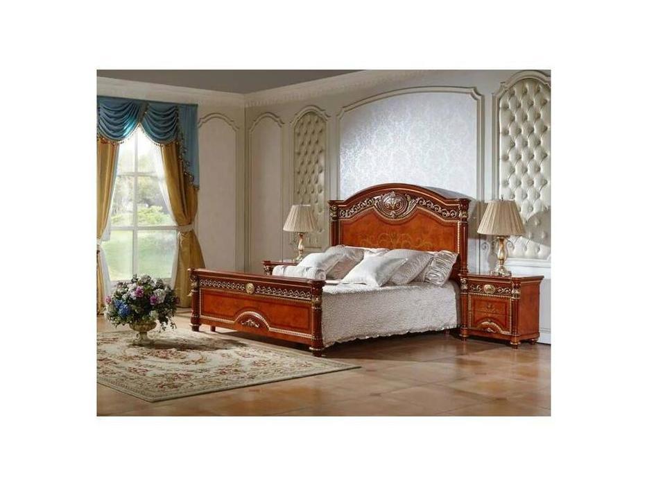 FurnitureCo: Атанасия: кровать двуспальная  180х200 (орех)