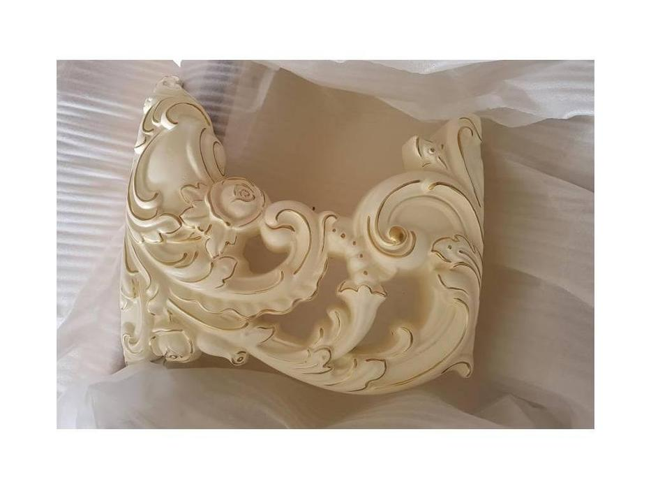 FurnitureCo: Мирелла шарм: стол туалетный  с зеркалом (слоновая кость)