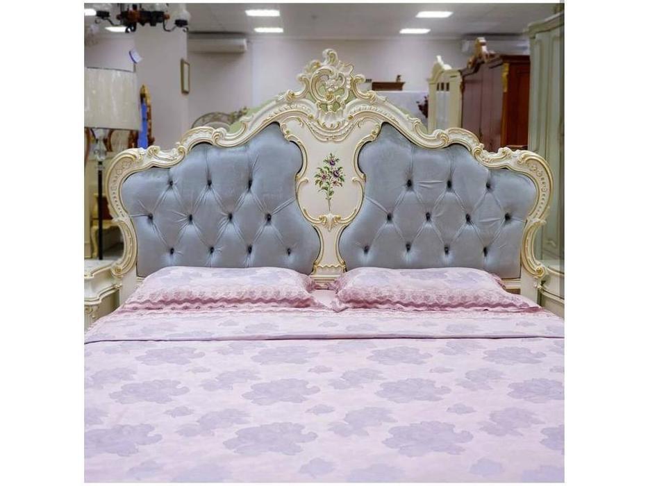 FurnitureCo: Капри: кровать 180х200   с мягким изголовьем (беж)
