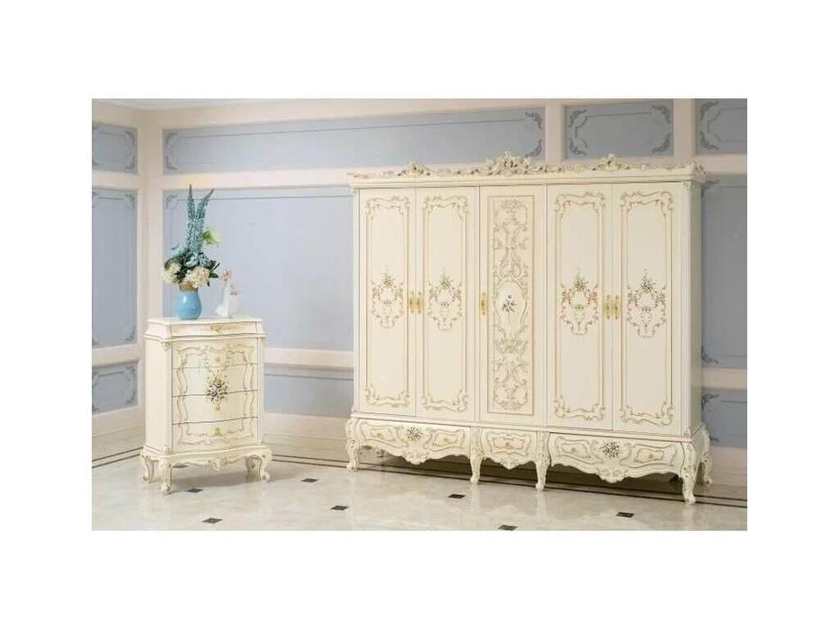 FurnitureCo: Капри: шкаф 5 дверный  (беж)