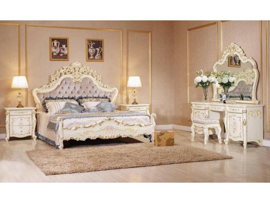 FurnitureCo: Батичелла new: спальная комната с 6-ти дверным шкафом  (беж)