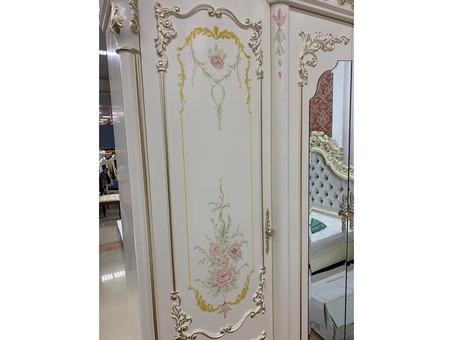 FurnitureCo: Батичелла new: шкаф 4-х дверный  (беж)