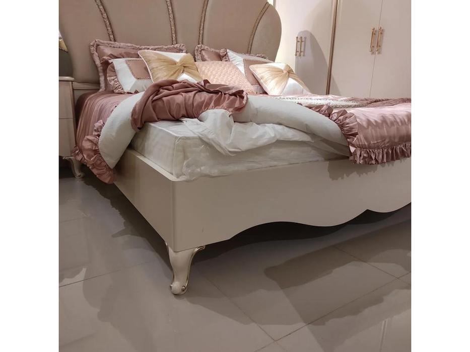 FurnitureCo: Liberty: кровать двуспальная 180х200  (крем)