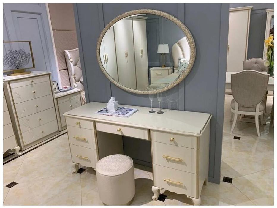 FurnitureCo: Liberty: стол туалетный с зеркалом  (крем)