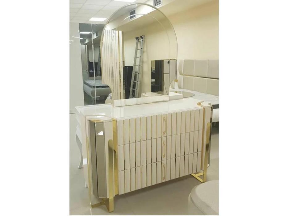 FurnitureCo: Luxury: комод с зеркалом (беж)