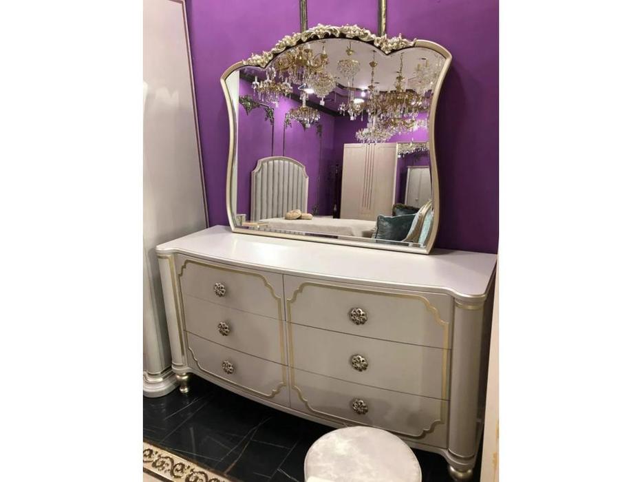 FurnitureCo: Paola: комод с зеркалом (крем)