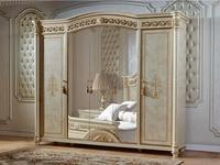 FurnitureCo: Атанасия: шкаф 5 дверный  с зеркалом (беж)