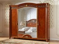 FurnitureCo: Атанасия: шкаф 5 дверный  с зеркалом (орех)