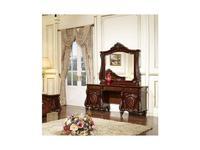 FurnitureCo: Лероз: стол туалетный  с зеркалом (орех)