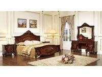 FurnitureCo: Лероз: спальная комната с 5-ти дверным шкафом  (орех)