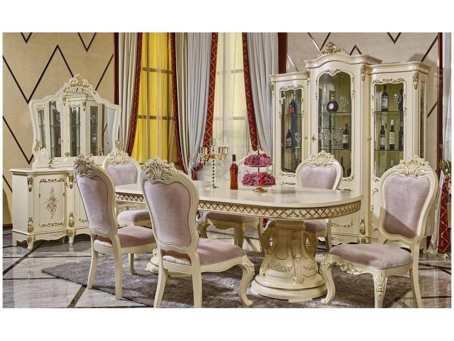 FurnitureCo: 613: гостиная   3 дв  4 стула 2 кресла (беж)