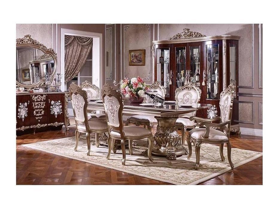 FurnitureCo: 973: стол обеденный  раскладной 240 (орех, золото)