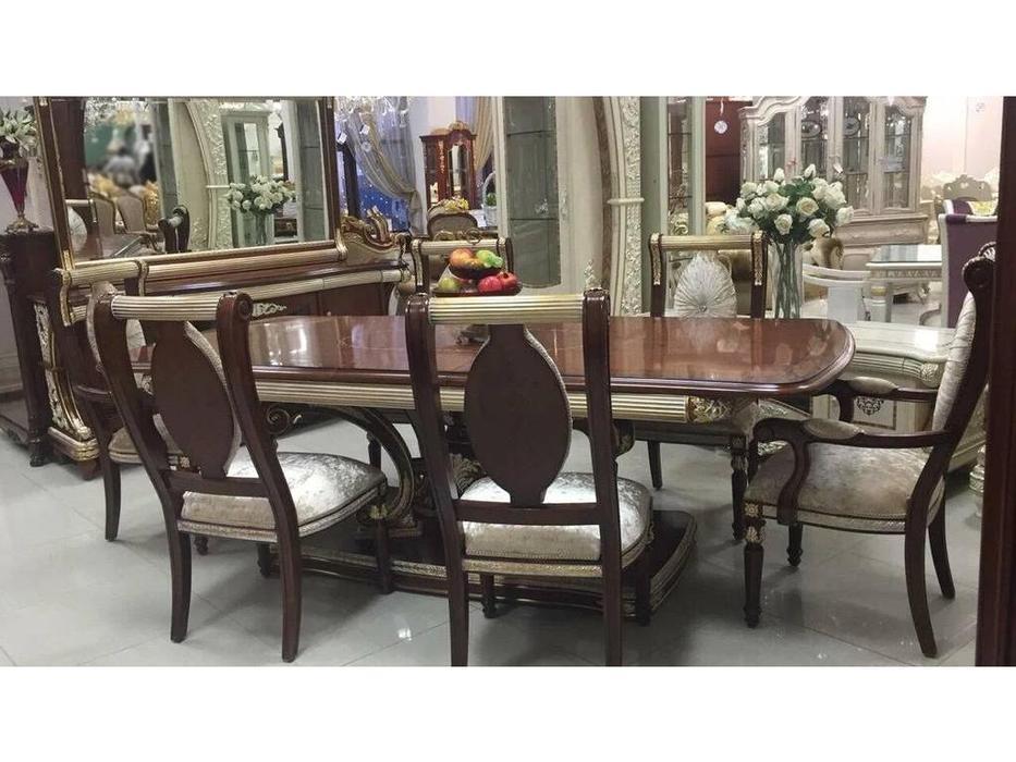 FurnitureCo: Love: стол обеденный раскладной 240-280 (орех)