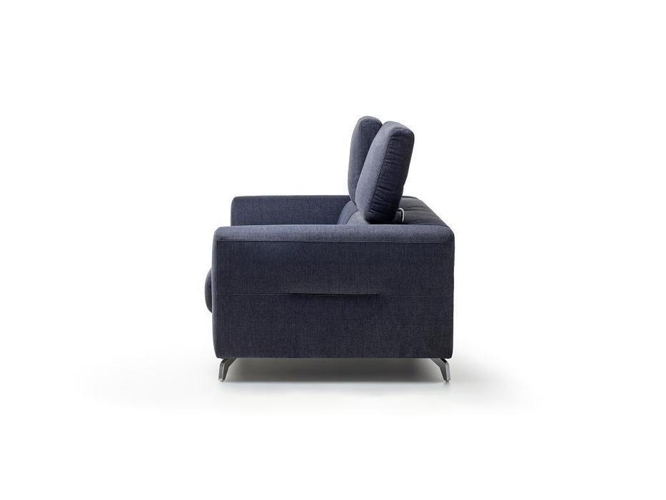 Rom: Tinos: диван с реклайнером (синий)