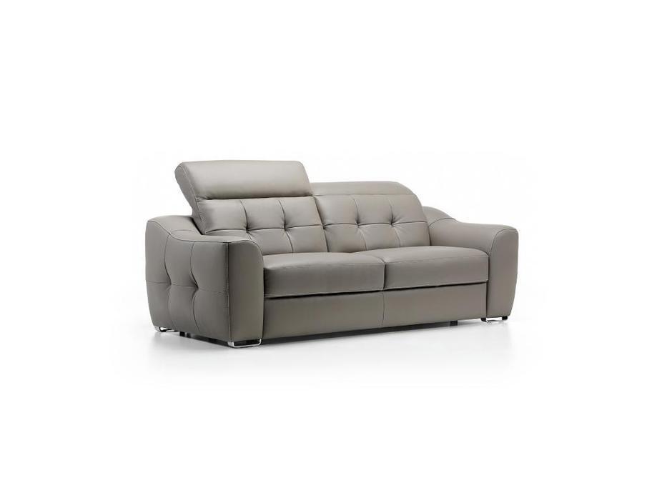 Rom: Aura: диван 3 местный с реклайнером (серый)