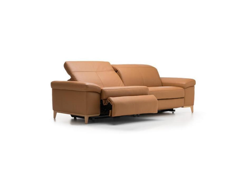 Rom: Cadini: диван 3 местный  (оранжевый)