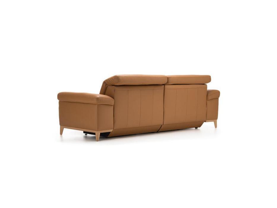 Rom: Cadini: диван 3 местный с реклайнером (коричневый)