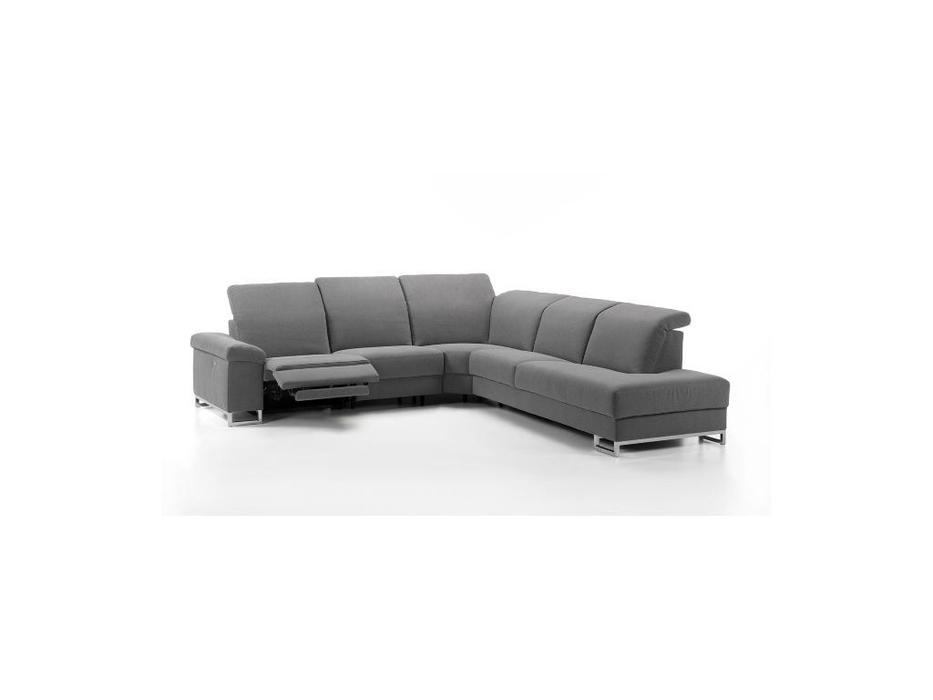 Rom: Deimos: диван угловой с реклайнером (серый)