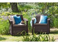 Keter: Corfu duo set: кресло  (коричневый)